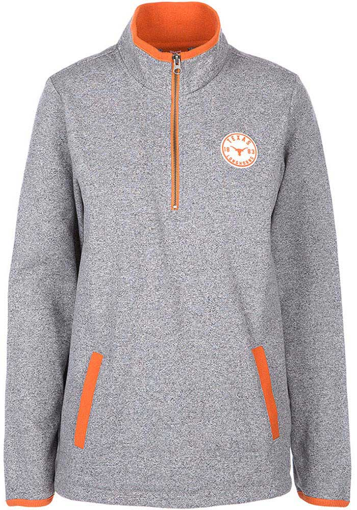 Texas Longhorns Womens Grey Fiona 1/4 Zip Pullover - Image 1