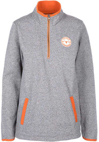 Texas Longhorns Womens Fiona Grey 1/4 Zip Pullover