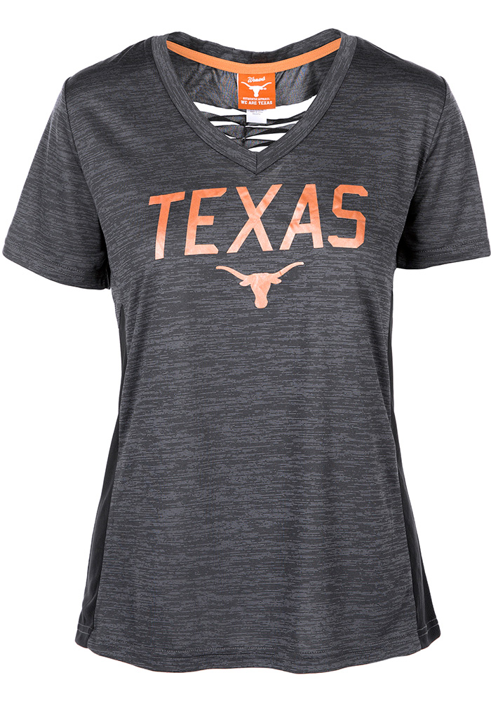 Texas Longhorns Womens Basha Grey Short Sleeve Tee