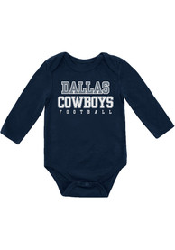 free shipping 97f8a da803 Dallas Cowboys Baby Navy Blue Practice One Piece