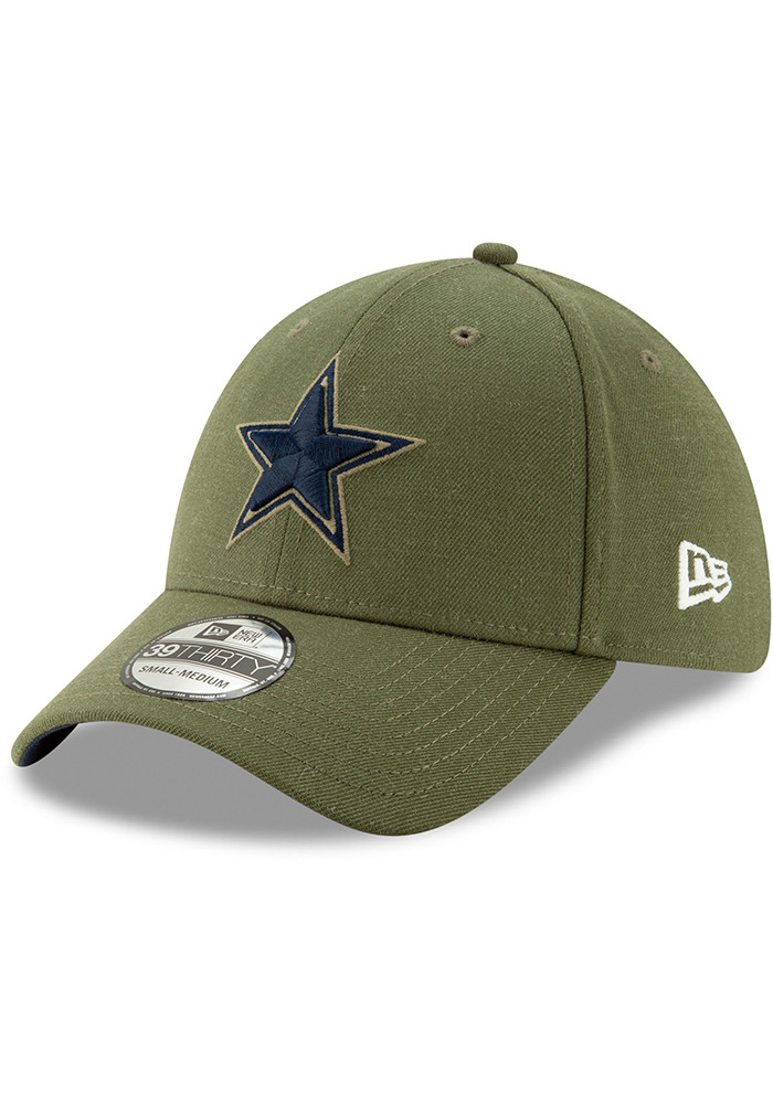Dallas Cowboys Mens Green Salute to Service 39Thirty Flex Hat - Image 1