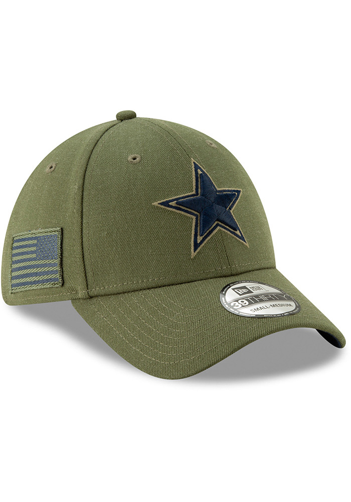 Dallas Cowboys Mens Green Salute to Service 39Thirty Flex Hat - Image 2