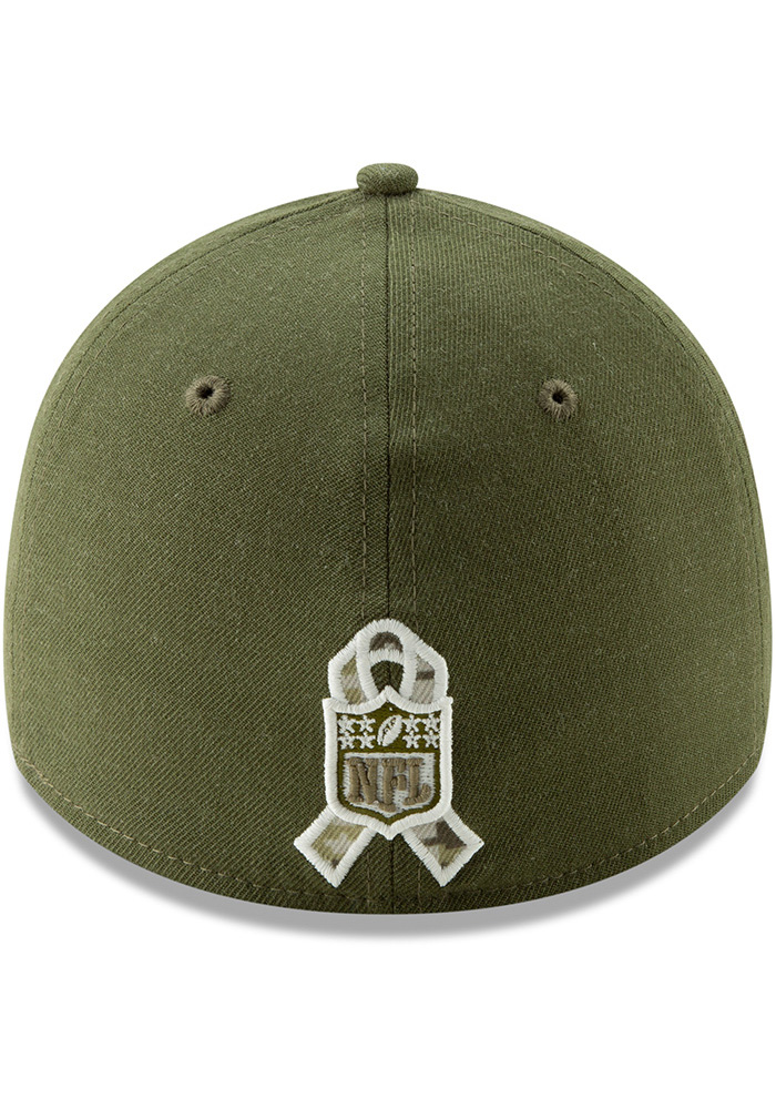 Dallas Cowboys Mens Green Salute to Service 39Thirty Flex Hat - Image 5