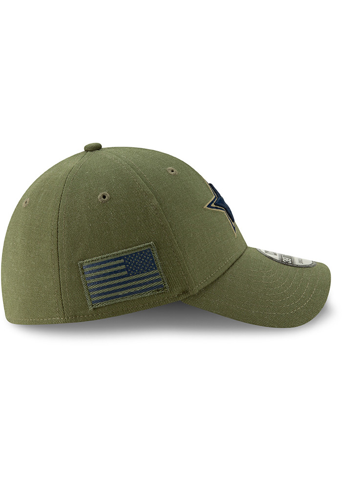 Dallas Cowboys Mens Green Salute to Service 39Thirty Flex Hat - Image 6