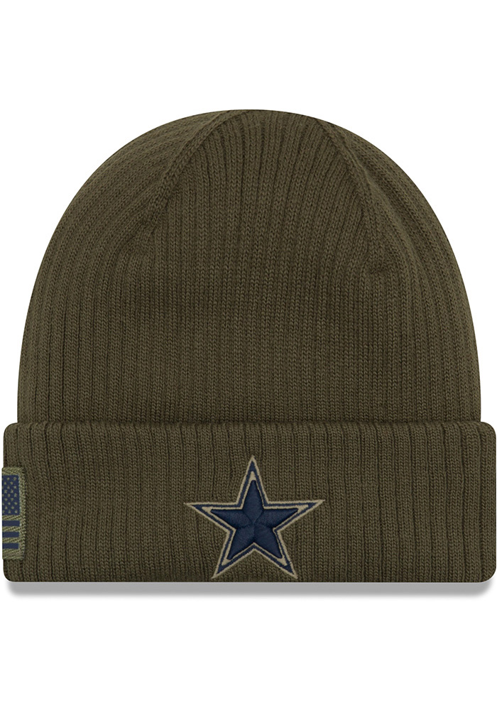Dallas Cowboys Green Salute to Service Knit Mens Knit Hat - Image 1