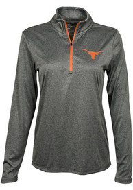 Texas Longhorns Womens Darcy 1/4 Zip - Charcoal