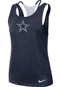 Nike Dallas Cowboys Womens Navy Blue Loose Dri-FIT Racerback Tank Top