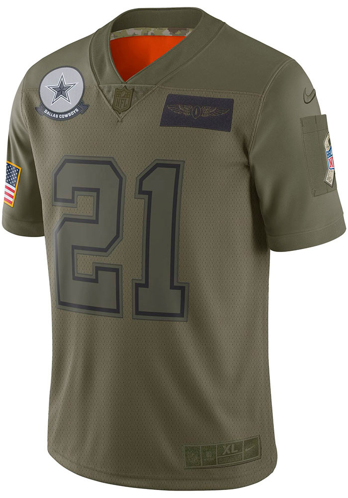Dallas Cowboys Mens Olive Salute to