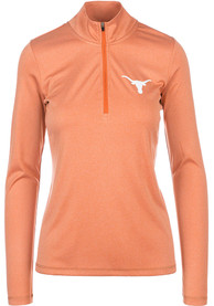 Texas Longhorns Womens Darcy Burnt Orange 1/4 Zip Pullover