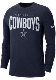 Nike Dallas Cowboys Youth Navy Blue Property Of T-Shirt