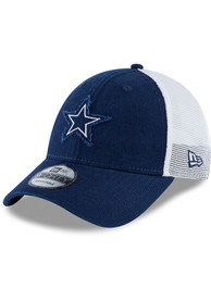Dallas Cowboys Team Truckered 9FORTY Adjustable Hat - Navy Blue