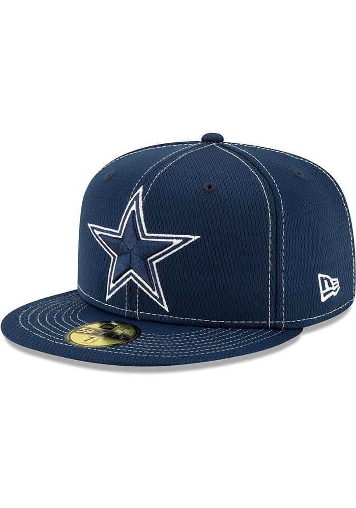 new design quite nice best wholesaler Dallas Cowboys Mens Navy Blue NFL19 Official Road Sideline ...