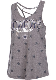 Dallas Cowboys Womens Grey Hendrix Tank Top