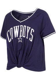 hot sale online 3200b 31a92 Dallas Cowboys Womens Navy Blue Channing T-Shirt