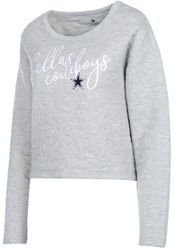 Dallas Cowboys Womens Winona Grey Crew Sweatshirt