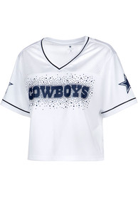 Dallas Cowboys Womens Jasmine Fashion Football Jersey - White