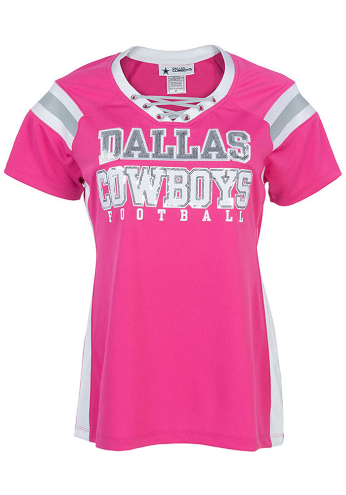 sports shoes 3751c 17f00 Dallas Cowboys Womens Tammy Fashion Football Jersey - Pink