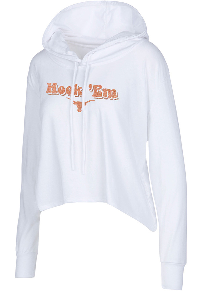 Texas Longhorns Womens White Barton Hoodie
