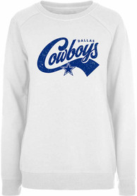 Dallas Cowboys Womens Penelope Crew Sweatshirt - White