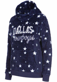 Dallas Cowboys Womens Lucia Hooded Sweatshirt - Navy Blue