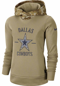 Nike Dallas Cowboys Womens White Salute To Service Hoodie