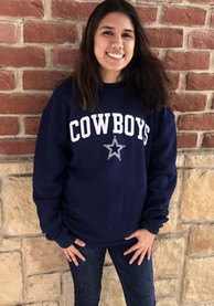 Dallas Cowboys Womens Claude Navy Blue Crew Sweatshirt