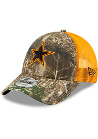 Dallas Cowboys Realtree Trucker 9FORTY Adjustable Hat - Green