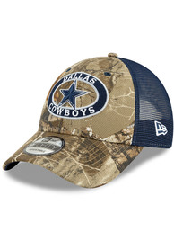 Dallas Cowboys Patched Realtree Trucker 9FORTY Adjustable Hat - Green