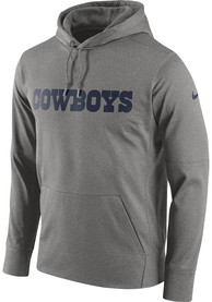 Dallas Cowboys Essential Wordmark Hood - Grey