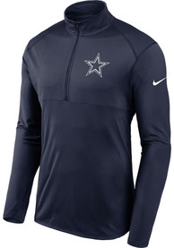 Dallas Cowboys Nike Element 1/4 Zip Pullover - Navy Blue