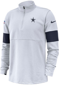 Dallas Cowboys Therma Top 1/4 Zip Pullover - White