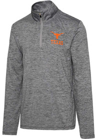 Texas Longhorns Grey Bolder 1/4 Zip Pullover