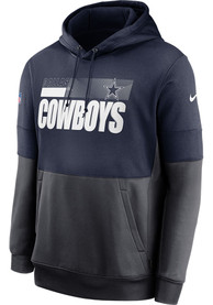 Dallas Cowboys Nike Lockup Therma Hood - Navy Blue