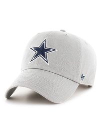 Dallas Cowboys 47 Clean Up Adjustable Hat - Grey
