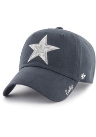 Dallas Cowboys Womens 47 Sparkle Clean Up Adjustable - Navy Blue