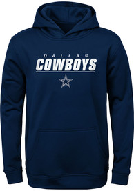 Dallas Cowboys Youth Static Hooded Sweatshirt - Navy Blue