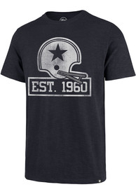 Dallas Cowboys 47 60th Anniversary Grit Scrum Fashion T Shirt - Navy Blue