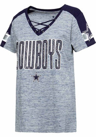 Dallas Cowboys Womens Curetta Fashion Football - Navy Blue