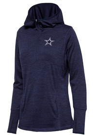 Dallas Cowboys Womens Cara Navy Blue 1/4 Zip Pullover