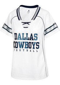 Dallas Cowboys Womens Avery Fashion Football - White