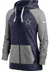 Dallas Cowboys Womens Nike Gym Vintage Full Zip Jacket - Navy Blue