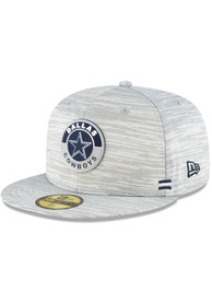Dallas Cowboys New Era 2020 Sideline 59FIFTY Fitted Hat - Grey