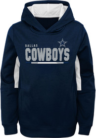 Dallas Cowboys Youth Long Season Hooded Sweatshirt - Navy Blue