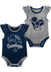 Dallas Cowboys Baby Touchdown One Piece - Navy Blue