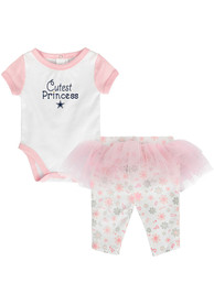 Dallas Cowboys Infant Girls Lil Princess Top and Bottom - White