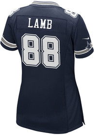 CeeDee Lamb Dallas Cowboys Womens Nike Road Game Football Jersey - Navy Blue