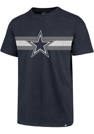 Dallas Cowboys 47 Coast to Coast Fashion T Shirt - Navy Blue