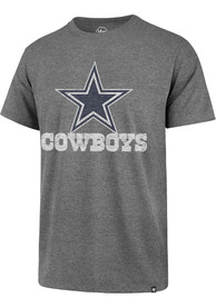 Dallas Cowboys 47 Replay Franklin Fashion T Shirt - Grey