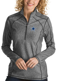 Antigua Dallas Cowboys Womens Tempo Grey 1/4 Zip Pullover