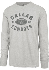 Dallas Cowboys 47 Overcast Franklin Fashion T Shirt - Grey